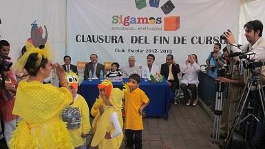 Se entregaron reconocimientos de manera simbólica a 20 niños egresados del programa