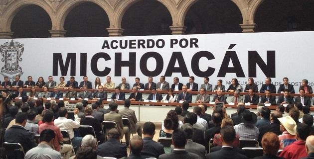 El documento contiene seis líneas y compromisos estratégicos, además de que se hace una invitación a sumarse a todos los michoacanos