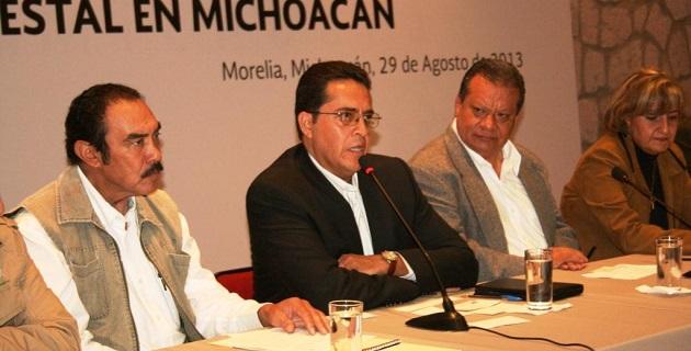 En Casa de Gobierno de Morelia se realizó el Foro Estatal para la Producción y Productividad Forestal en Michoacán