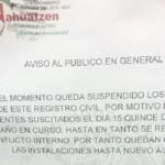 No pudo tomar posesión de su cargo Marín Sáenz, pues su antecesor, nombrado en el gobierno anterior, se quiere mantener con el uso de la fuerza