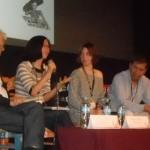 A la presentación, que se llevó a cabo en el Teatro José Rubén Romero de la capital michoacana acudieron los críticos de cine José Avellar y Carlos Bonfil, así como Lorena Gómez Mostajo