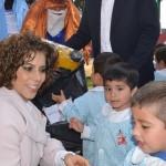 A lo largo de toda la semana, la esposa del presidente municipal, Wilfrido Lázaro, ha festejado con los niños morelianos el Día de Reyes