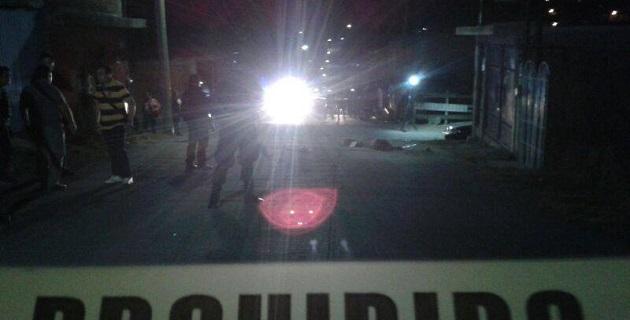 Los hechos se registraron poco antes de las 21:00 horas en el cruce de las calles Gobernador de Yucatán y Escritor Humanista