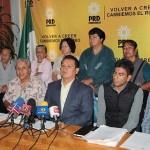 El líder de los ex braceros, Ventura Gutiérrez, se presentó esta mañana en la rueda de prensa de los lunes del Comité Ejecutivo Estatal del PRD