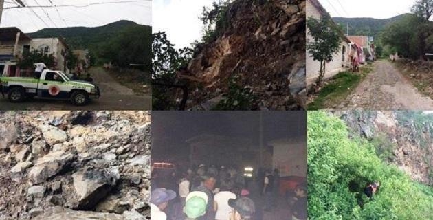 """Alertan a población ante posible desgajamiento del cerro """"La Estrella"""" en Pajacuarán"""