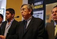 Cárdenas Solórzano convocó al inicio de una campaña encaminada a apuntalar la exigencia de realizar una consulta popular para echar atrás las reformas a los artículos 25, 27 y 28 de la Constitución