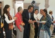 El presidente municipal de Morelia, Wilfrido Lázaro Medina, fue el encargado de dar la bienvenida al Xantolo, una de las Ceremonias Indígenas de Día de Muertos de la Huasteca Hidalguense más representativas del mundo