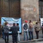 Ahora causando molestias a los usuarios de los servicios financieros, se realizan las manifestaciones de apoyo a Ayotzinapa en Morelia
