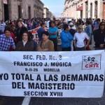 La Sección XVIII de la CNTE informó que espera paralizar las 113 alcaldías michoacanas con apoyo de estudiantes de las ocho escuelas normales oficiales que existen en la entidad