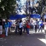 Según reportes de los padres de familia, poco después de las 08:00 horas de la mañana, los miembros del ala radical del magisterio michoacano llegaron al plantel educativo (FOTO: FERNANDO ARREDONDO)