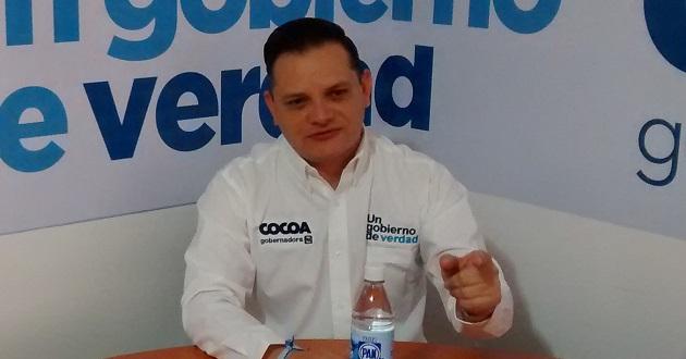 Héctor Gómez, coordinador de campaña de Luisa María Calderón.