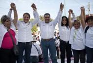 Morón Orozco fue acompañado por Priscila López y Lucila Martínez, candidata a Diputada Federal por el Distrito X de Morelia, y candidata a Diputada Local por el Distrito XVII de este municipio