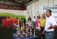 Es importante la práctica del deporte en niños y jóvenes, ya que es este el medio que ayuda a la integración de las familias, la conservación de la salud y entre oras cosas: Montañez Espinosa