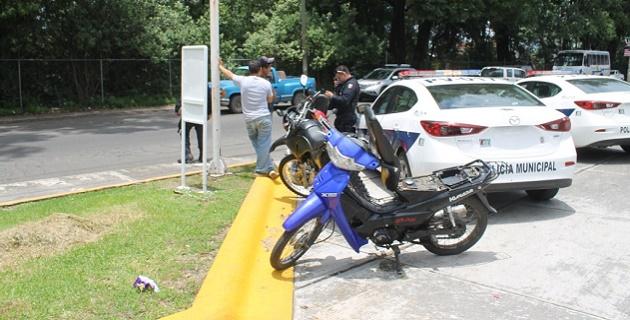 Policía Federal instaló filtros de revisión a motos.