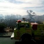 El siniestro fue combatido por elementos de la Coordinación de Protección Civil y Bomberos Municipales de Morelia (FOTO: MARIO REBO)