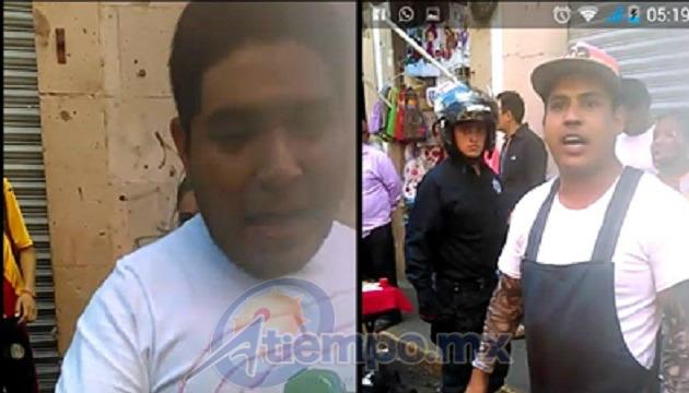 Locatarios del Mercado Independencia están tomando por costumbre invadir banqueta y calle a un costado del lugar, así como proteger a comerciantes ambulantes (IMÁGENES: MARIO REBO)