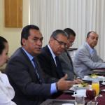 Encabezados por Eugenio Estrada, presidente de COPARMEX Michoacán, empresarias y empresarios locales externaron sus inquietudes al secretario de Gobierno de la entidad