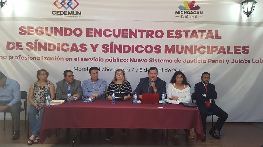 En el Segundo Encuentro Estatal de Síndicas y Síndicos Municipales participaron la presidenta de la CEEAV, Selene Vázquez, el comisionado Salvador Ceja Barrera y los directores de área de la institución