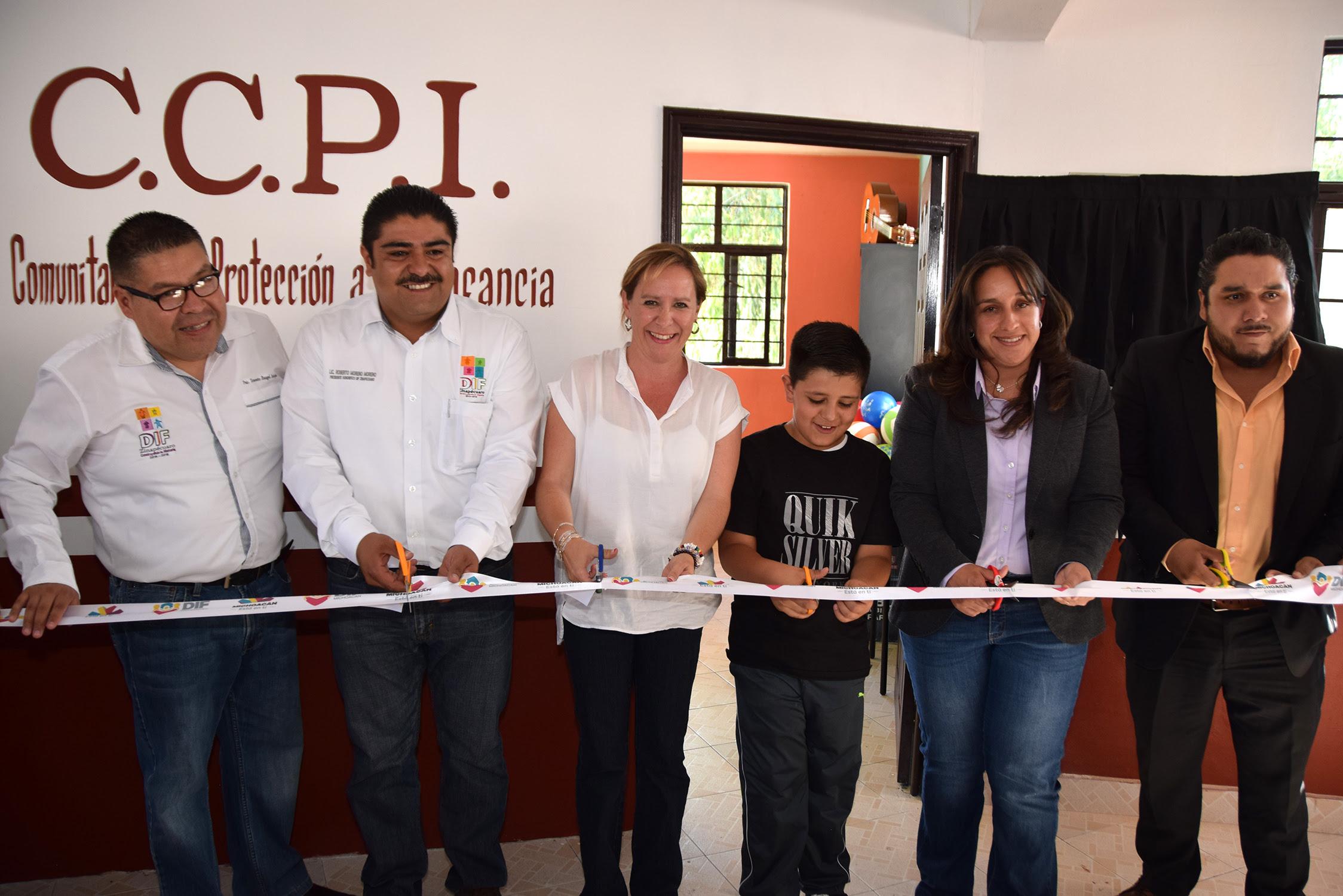 Rocío Beamonte inauguró un CCPI en el municipio de Zinapécuaro