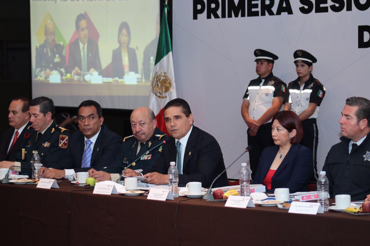 El secretario de Gobierno, Adrián López, presentó un informe del estado que guarda la entidad en materia de seguridad
