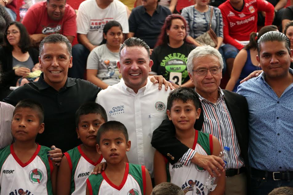 Quintana Martínez resaltó la importancia del apoyo de los padres de familia para que las nuevas generaciones se involucren en el ámbito deportivo