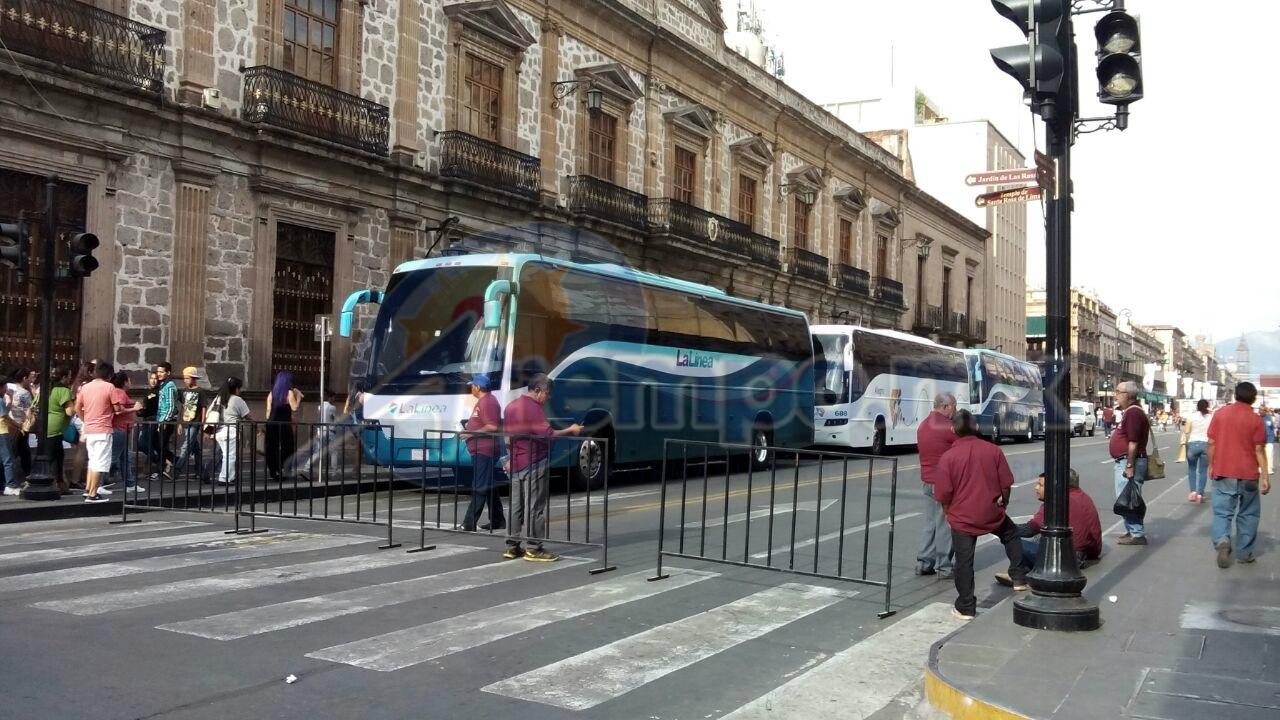 Cerradas la Avenida Madero, las calles Morelos, Benito Juárez, Abasolo, Guillermo Prieto y Allende, entre otras (FOTOS: MARIO REBO).