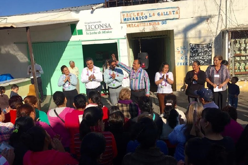 El gerente estatal de Liconsa, Gerónimo Color Gasca, detalló que, gracias a las acciones del Gobierno de la República al día de hoy Peribán cuenta con 4 lecherías