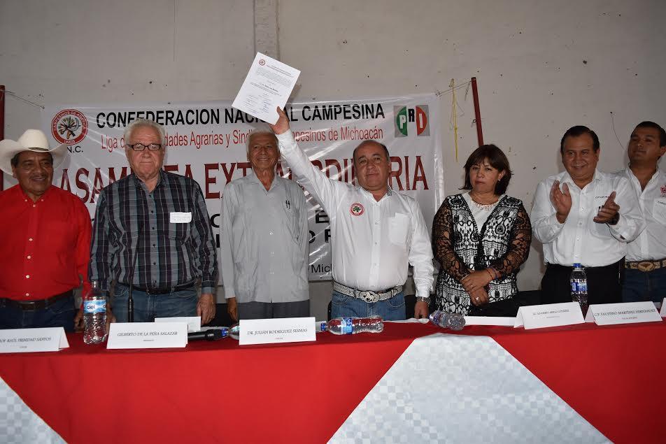 Con la presencia de poco más de 200 consejeros políticos, se votó por el candidato de unidad, Jesús Luna Morales quién es ahora el nuevo Dirigente Estatal de la CNC Michoacán por el periodo estatutario 2016-2020