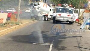 Al lugar acudieron la Coordinación de Protección Civil y Bomberos Municipales de Morelia, Protección Civil estatal y Bomberos Voluntarios (FOTO: FRANCISCO ALBERTO SOTOMAYOR)