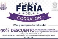 El periodo previsto en el cual se llevará a cabo esta segunda Gran Feria del Corralón será del 17 al 31 mayo del presente año