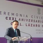 El diputado local llamó a erradicar la desigualdad, la corrupción e inseguridad, con la finalidad de que en Michoacán se pueda vivir en plena democracia