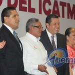 Barragán Vélez anunció que en breve se abrirá un nuevo plantel del ICATMI en el Fraccionamiento Villas del Pedregal de la ciudad de Morelia (FOTO: MARIO REBO)