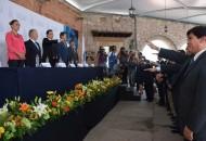 Ante el presidente de Concamin, Manuel Herrera Vega, el nuevo líder de los industriales aseguró que para sacar adelante a Michoacán, es urgente la colaboración conjunta entre gobierno y el sector
