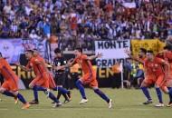 Francisco Silva anotó el gol decisivo en la tanda de penaltis y dio a la Roja la segunda Copa América de su historia, la segunda seguida