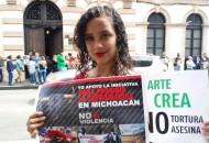 La manifestación tiene como fin respaldar la iniciativa para terminar con las Corridas de Toros en Michoacán