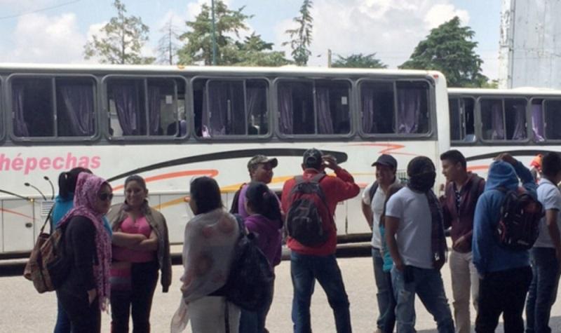 De los 50 vehículos que tienen en su poder, 22 son unidades del transporte público de pasajeros de las líneas de Autovías, Purhépecha, Primera Plus, Autobuses de Occidente, Parhíkuni y ETN