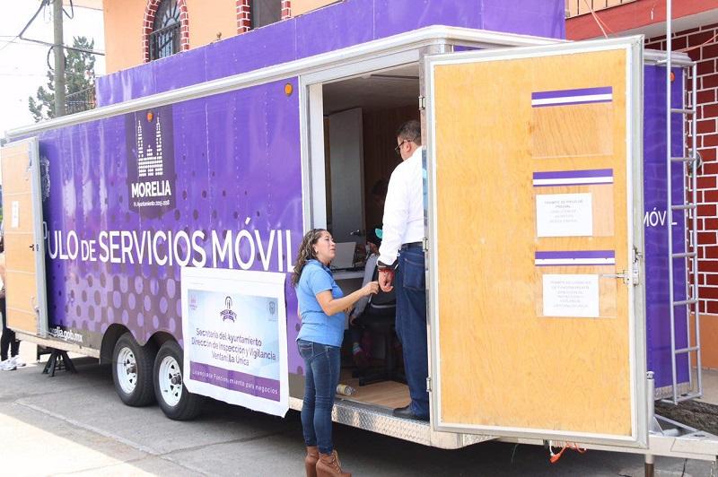 La Unidad Móvil de Servicios estará ubicada hasta el próximo viernes 15 de julio en la Plaza San Francisco sobre la calle Vasco de Quiroga, en el primer cuadro de la ciudad, en un horario de 09:00 a 14:00 horas