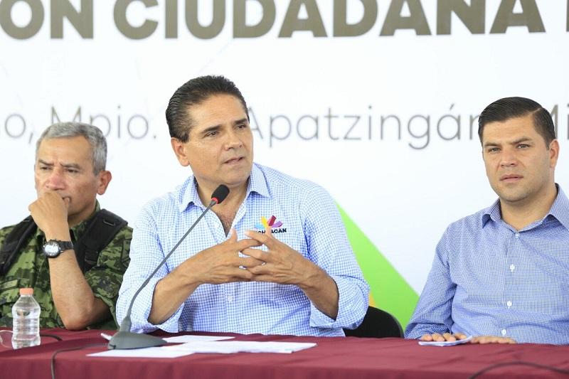 Silvano Aureoles revisó uno a uno los avances que se tienen en diversos frentes para reconstruir el tejido social e impulsar el desarrollo de esta zona