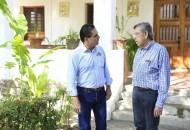 Aureoles Conejo desayunó con el ex gobernador michoacano en el Rancho Galeana