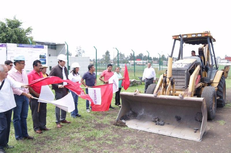 El presidente municipal de Morelia encabezó el arranque de obras en la Unidad Deportiva Wenceslao Victoria Soto, donde se invertirán 7 mdp