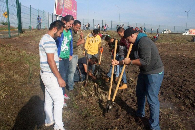 Estudiantes, personal docente y administrativo de la institución llevaron a cabo la Tercera Jornada de Servicio Comunitario, en la que plantaron mil arbolitos