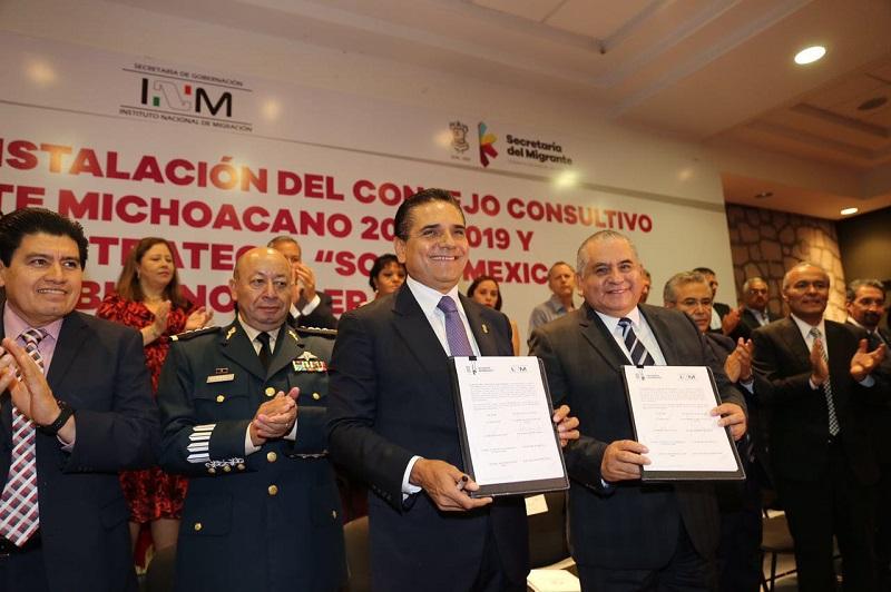Destaca comisionado del INM, Ardelio Vargas, la sensibilidad de Silvano Aureoles para atender el tema migratorio