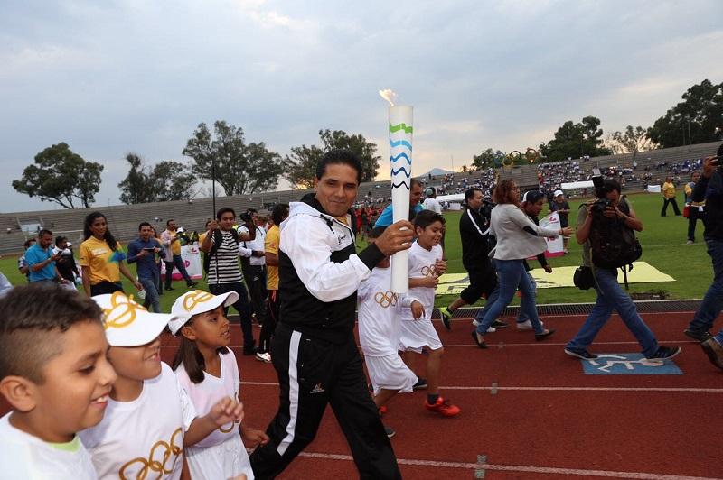 La Ruta Olímpica inició el pasado 17 de julio, estuvo presente en 33 municipios de la geografía michoacana y participaron más de 700 atletas de la entidad