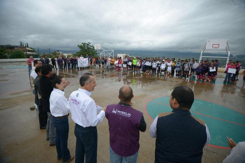 En un trabajo en conjunto con la SEDATU, el Gobierno Municipal equipó y amplió el Centro de Desarrollo Comunitario de San Isidro Itzícuaro