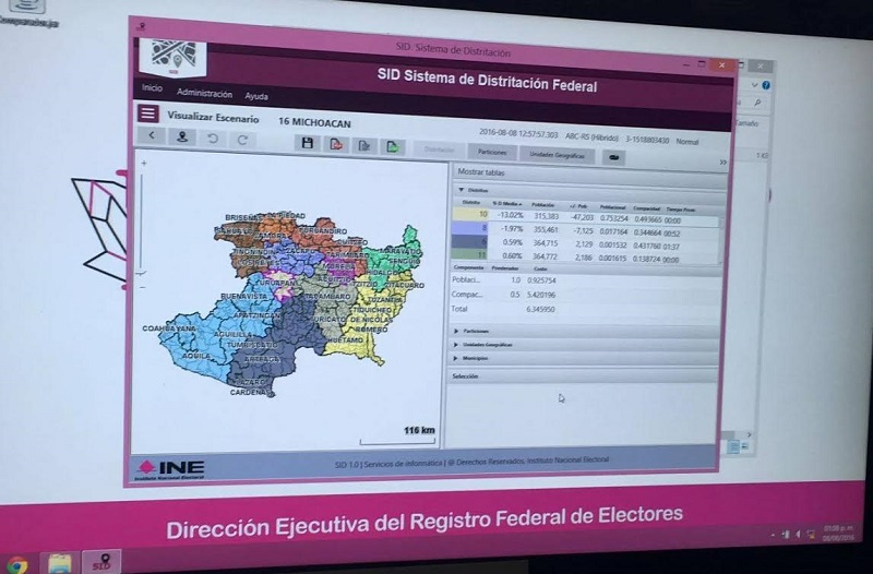 De Junta Local del INE en Michoacán asistió el Delegado, Joaquín Rubio Sánchez, el Vocal del Registro Federal de Electores, Jaime Quintero Gómez