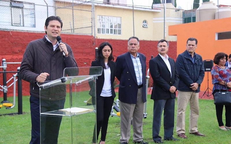 El Presidente Municipal encabezó la inauguración del gimnasio interactivo donado por Coca-Cola FEMSA, en el Fraccionamiento Jardines del Toreo