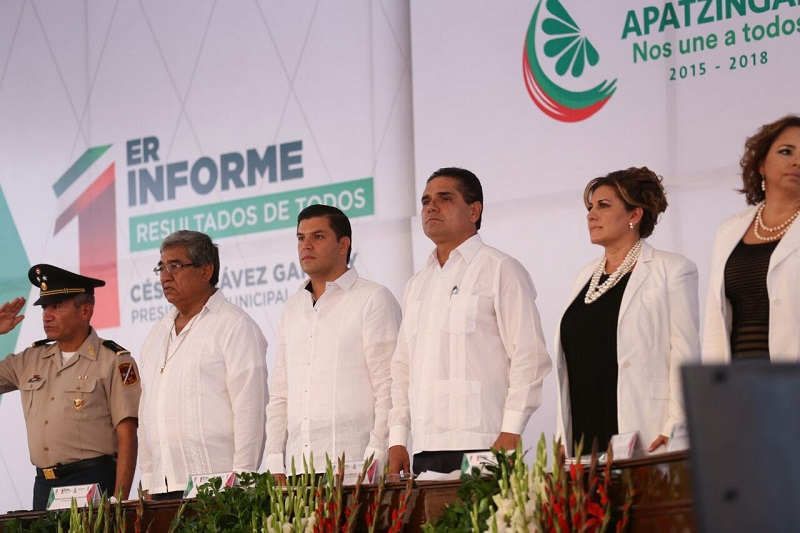 César Chávez reconoció los avances que en materia de seguridad ha tenido Apatzingán en los últimos meses, esto gracias al trabajo coordinado con el Gobierno del Estado y Federal