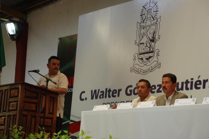 Reitera el Secretario de Desarrollo Rural y Agroalimentario, Israel Tentory García el compromiso del Gobernador de seguir trabajando en favor de los michoacanos; destaca que el próximo se construirán dos presas más aquí