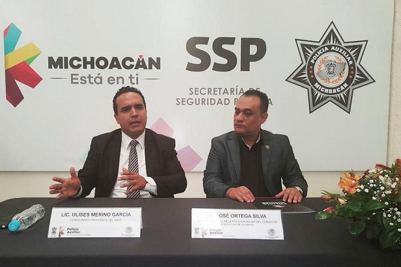 Seguiremos capacitando a las áreas de seguridad pública: Ulises Merino