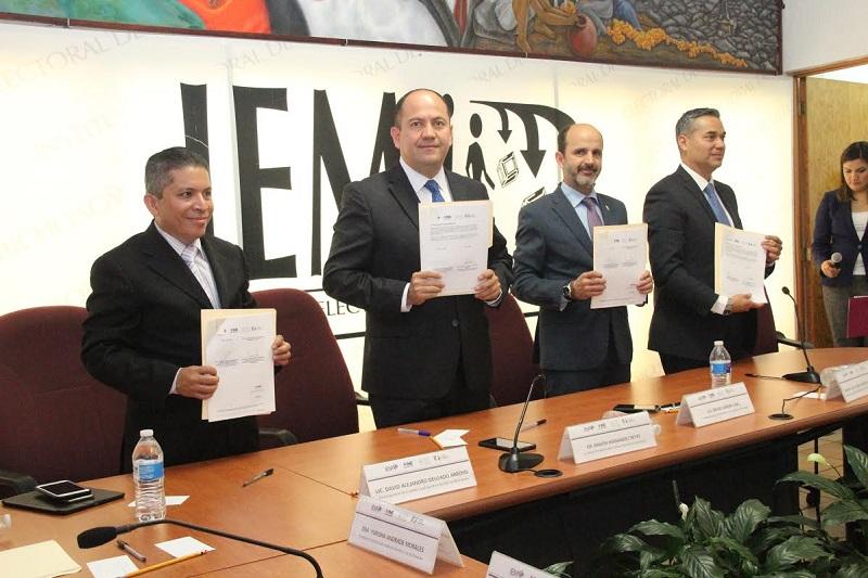 El consejero presidente del IEM, Ramón Hernández, señaló que el convenio difundirá la educación cívica, formación y participación ciudadana, que contribuirá a la construcción de una ciudadanía integral basada en los valores democráticos